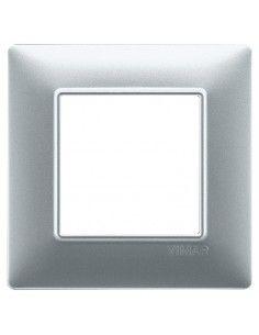 Vimar 14642.20 Plana - placca 2 moduli argento opaco