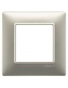 Vimar 14642.21 Plana - placca 2 moduli nichel opaco