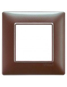 Vimar 14642.23 Plana - placca 2 moduli marrone micalizzato
