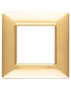 Vimar 14642.24 Plana - placca 2 moduli oro lucido