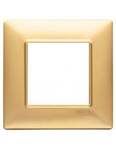 Vimar 14642.25 Plana - placca 2 moduli oro opaco