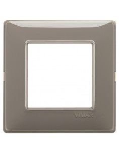 Vimar 14642.40 Plana - placca 2 moduli cenere