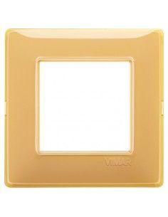 Vimar 14642.43 Plana - placca 2 moduli ambra
