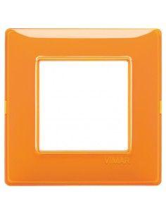 Vimar 14642.48 Plana - placca 2 moduli arancio