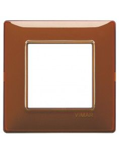 Vimar 14642.49 Plana - placca 2 moduli tabacco