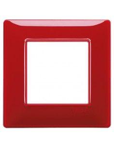 Vimar 14642.51 Plana - placca 2 moduli rubino