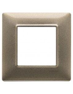 Vimar 14642.70 Plana - placca 2 moduli bronzo metallizzato
