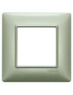 Vimar 14642.72 Plana - placca 2 moduli verde metallizzato