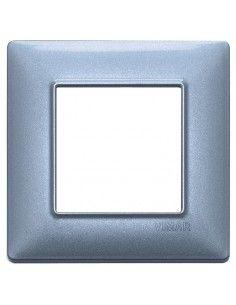 Vimar 14642.73 Plana - placca 2 moduli blu metallizzato