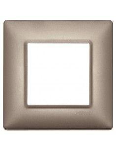 Vimar 14642.74 Plana - placca 2 moduli nichel perlato