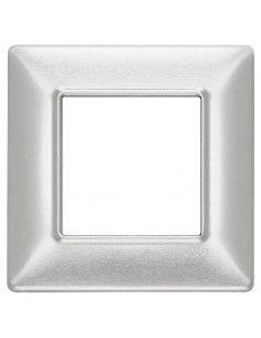 Vimar 14642.81 Plana - placca 2 moduli alluminio spazzolato