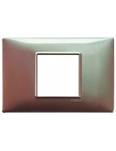 Vimar 14652.23 Plana - placca 2 moduli centrati marrone micalizzato