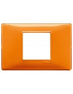 Vimar 14652.48 Plana - placca 2 moduli centrati arancio