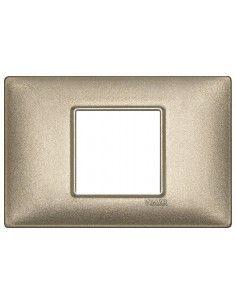 Vimar 14652.70 Plana - placca 2 moduli centrati bronzo metallizzato