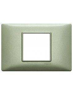 Vimar 14652.72 Plana - placca 2 moduli centrati verde metallizzato