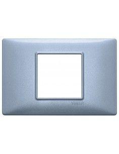 Vimar 14652.73 Plana - placca 2 moduli centrati blu metallizzato