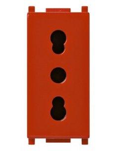 Vimar 14203.R Plana - presa bipasso rosso