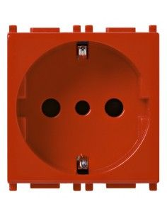 Vimar 14209.R Plana - presa tedesca e piccola rosso