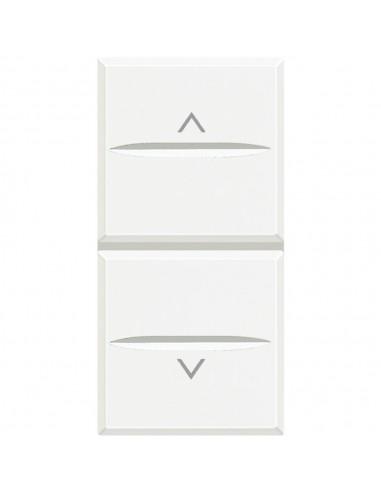 Axolute Bianco - doppio pulsante interbloccati con frecce