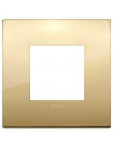 Vimar 19642.07 Arke - placca 2 moduli oro