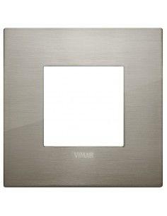 Vimar 19642.08 Arke - placca 2 moduli acciaio spazzolato