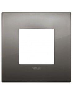 Vimar 19642.09 Arke - placca 2 moduli cromo nero