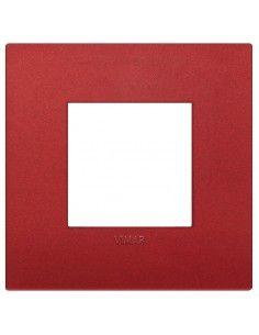 Vimar 19642.75 Arke - placca 2 moduli rosso matt
