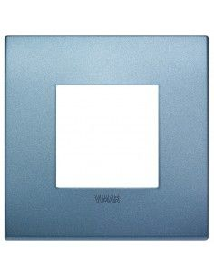 Vimar 19642.76 Arke - placca 2 moduli blu matt
