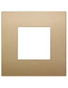 Vimar 19642.78 Arke - placca 2 moduli oro matt