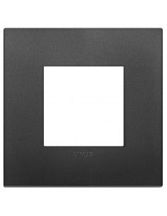 Vimar 19642.71 Arke - placca 2 moduli nero