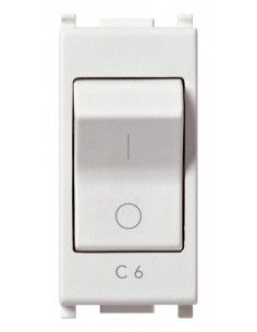 Vimar 14405.06 Plana - interruttore automatico magnetotermico 1P+N 6A