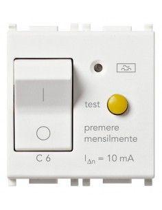 Vimar 14411.06 Plana - interruttore automatico magnetotermico differenziale 1P+N 6A