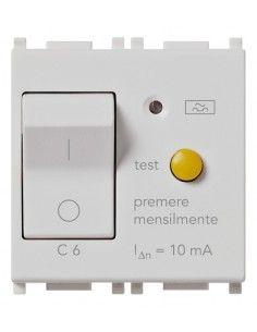 Vimar 14411.06.SL Plana - interruttore automatico magnetotermico differenziale 1P+N 6A