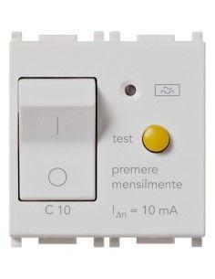 Vimar 14411.10.SL Plana - interruttore automatico magnetotermico differenziale 1P+N 10A
