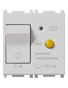 Vimar 14411.16.SL Plana - interruttore automatico magnetotermico differenziale 1P+N 16A