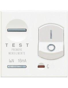 Axolute Bianco - magnetotermico differenziale 1P+N 10A 10mA