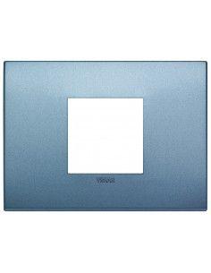 Vimar 19652.76 Arke - placca 2 moduli centrati blu matt