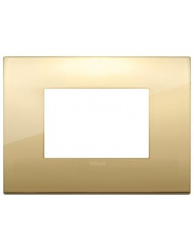 Vimar 19653.07 Arke - placca 3 moduli oro