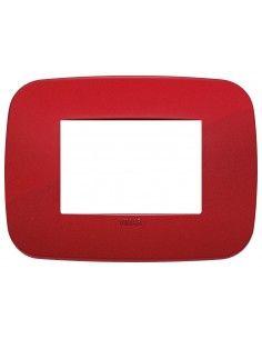 Vimar 19683.85 Arke - placca 3 moduli rosso