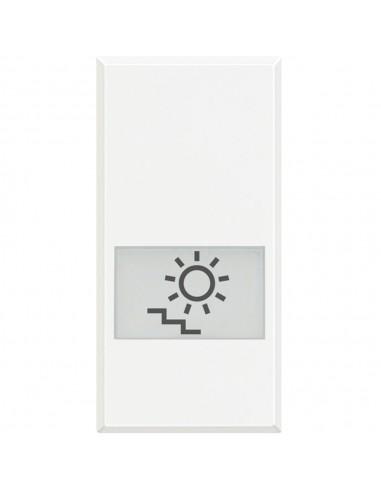 Axolute Bianco - copritasto con simbolo luce scale