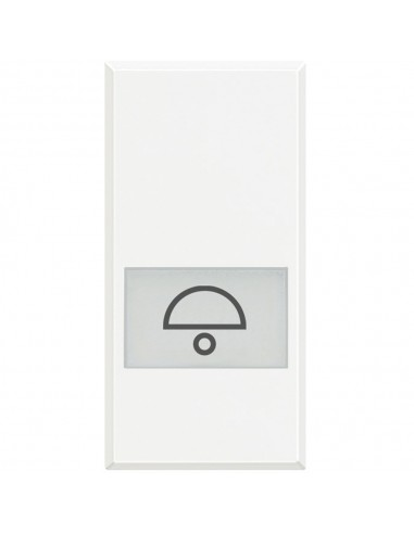 Axolute Bianco - copritasto con simbolo campanello