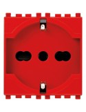 Vimar 19210.R Arke - presa universale rosso