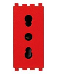 Vimar 19203.R Arke - presa bipasso rosso