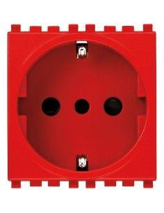 Vimar 19209.R Plana - presa tedesca e piccola rosso
