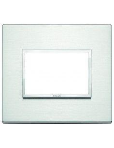 Vimar 21653.01 Eikon Evo - placca 3 moduli alluminio brillante