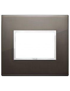 Vimar 21653.06 Eikon Evo - placca 3 moduli nero zaffiro