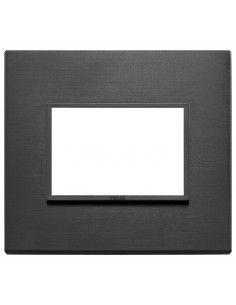 Vimar 21653.18 Eikon Evo - placca 3 moduli nero totale