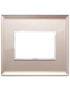 Vimar 21653.75 Eikon Evo - placca 3 moduli specchio bronzato