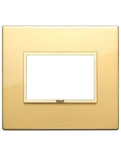 Vimar 21653.G09 Eikon Evo - placca 3 moduli oro totale lucido