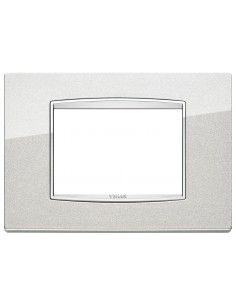 Vimar 20653.C10 Eikon Chrome - placca 3 moduli argento metal
